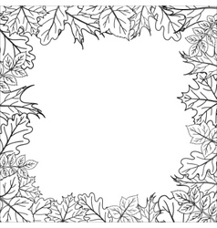 framework from leaves outline vector image