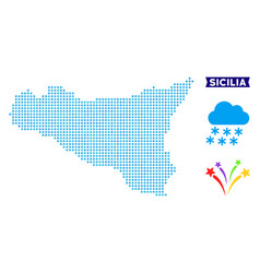 freeze sicilia map vector image