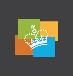 funky crown logo vector image