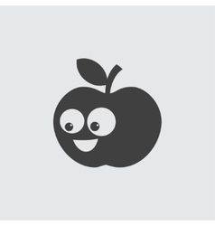 Funny apple icon vector image