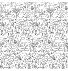 Hand drawn Australia seamless pattern vector