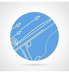 Harpoon blue round icon vector