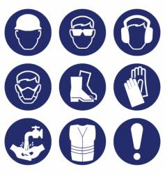 Health safety icons vector