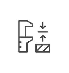 Industrial measurement line icon vector