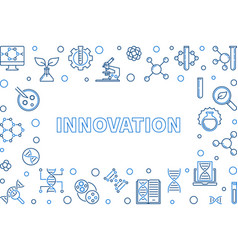innovation outline horizontal frame vector image