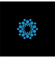 Isolated abstract blue color flower logo vector