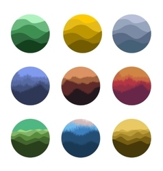 Isolated abstract colorful round shape wild nature vector