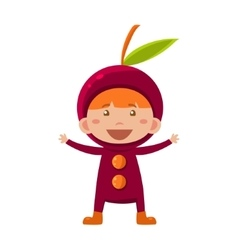 Kid In Cherry Costume vector image