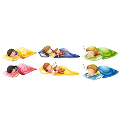 Kids sleeping soundly vector image
