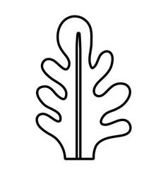 Line botanic cute leaf natural style vector