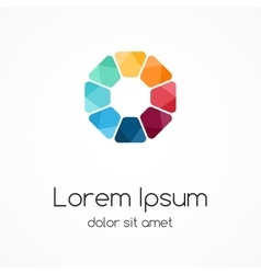 Logo template modern abstract circle vector