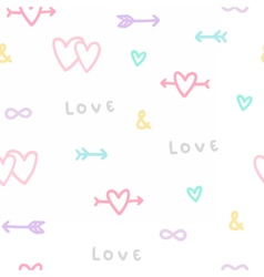 Love symbols seamless pattern vector