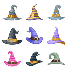 masquerade artoon witch hat halloween children vector image