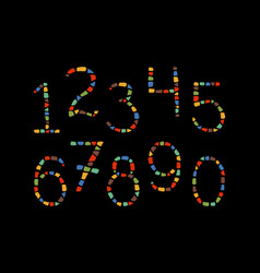 Mosaic numbers vector