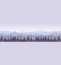 mountains with forest in vector image