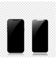 new version black and white slim smartphone vector image