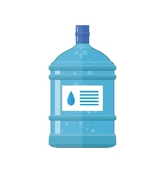 Office plastic bottle for water cooler vector image
