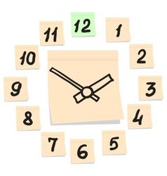 Paper clock vector image