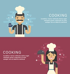 People Profession Concept Cooking Male and Female vector