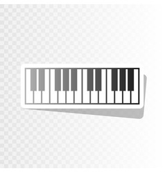 Piano keyboard sign new year blackish vector