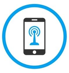 Radio Control Smartphone Icon vector image