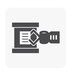 robot arm icon vector image