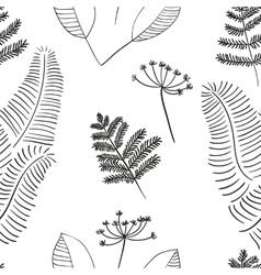 Scandinavian Floral Pattern vector image