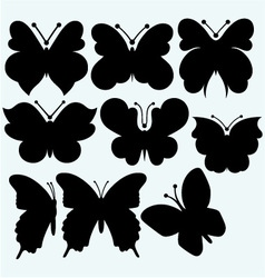 Set icon butterfly vector image