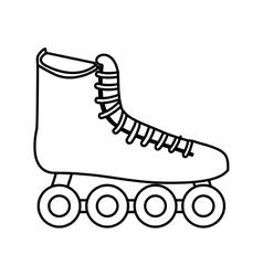 skate sport equipment icon vector image