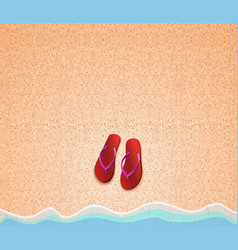 Summer background with step-ins on the beach vector