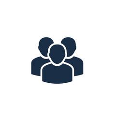 team user logo icon design vector image