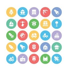 Transport bold icons 5 vector