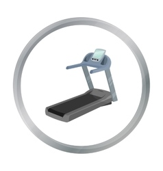 Treadmill icon cartoon Single sport icon from the vector