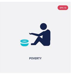 Two color poverty icon from general concept vector