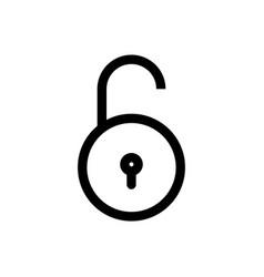 unlock line icon password security simple thin vector image