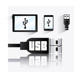 USB design vector image