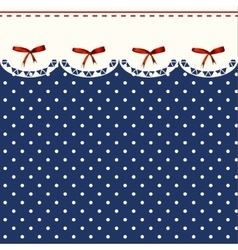 Vintage Blue Polka-dot Dress Printable Background vector