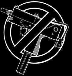 White silhouette no guns vector
