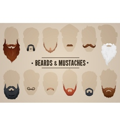 Beards and mustaches vector image