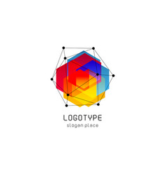 Bright colorful abstract poly construction vector