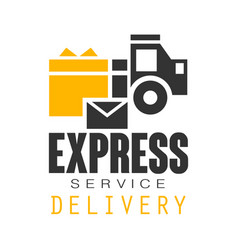 express delivery service logo design template vector image vector image