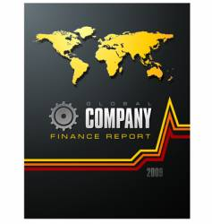 global company report vector image vector image