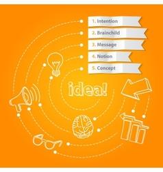 Inspiration idea concept modern design template vector image vector image