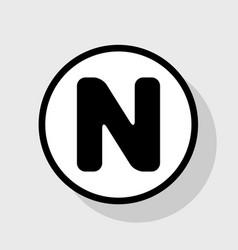 letter n sign design template element vector image vector image