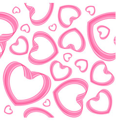 Seamless heart pattern on white background vector