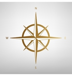 Wind rose sign Flat style icon vector image