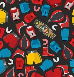 Boxing Seamless Pattern sports background Boxing vector image vector image