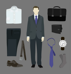 classical businessman clothes vector image