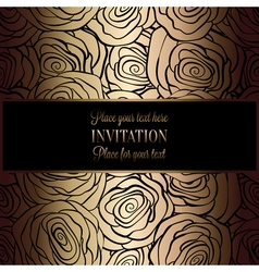 Invitation decorative golds 39 vector