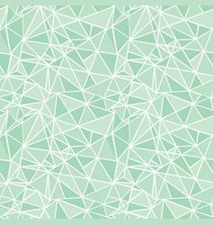 mint green geometric mosaic triangles vector image